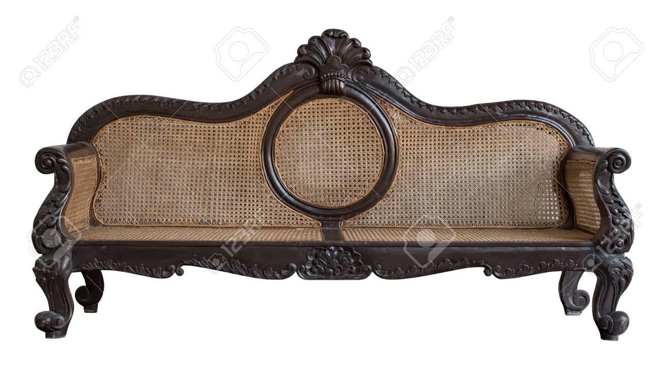 Stoel Rotan Wit : Traditionele rotan stoel geïsoleerd rotan sofa meubilair weven