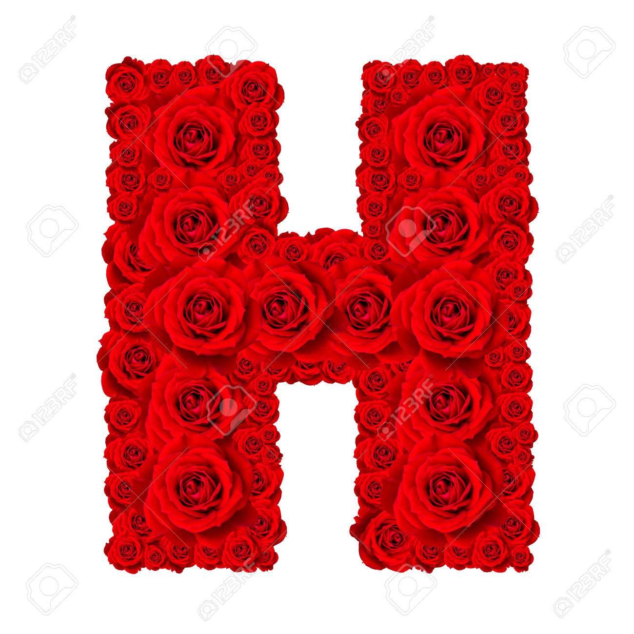 H Letter Images.Rose Alphabet Set Alphabet Capital Letter H Made From Red Rose