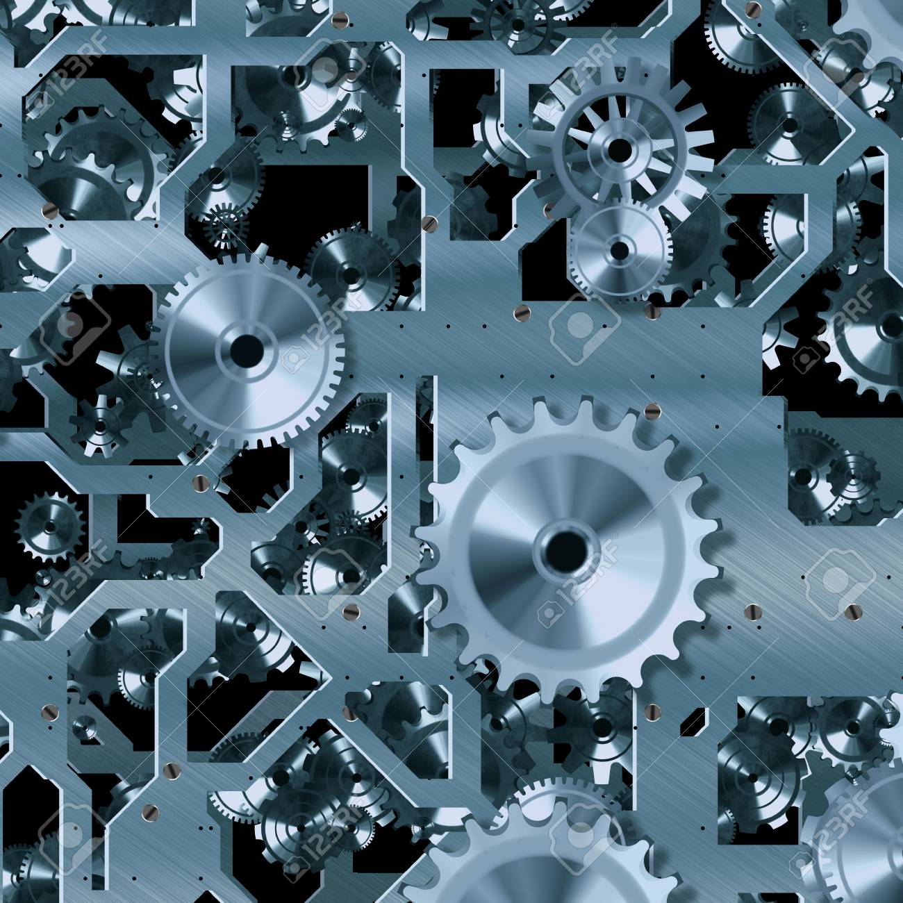 Abstract background with metallic gears Stock Photo - 20682490