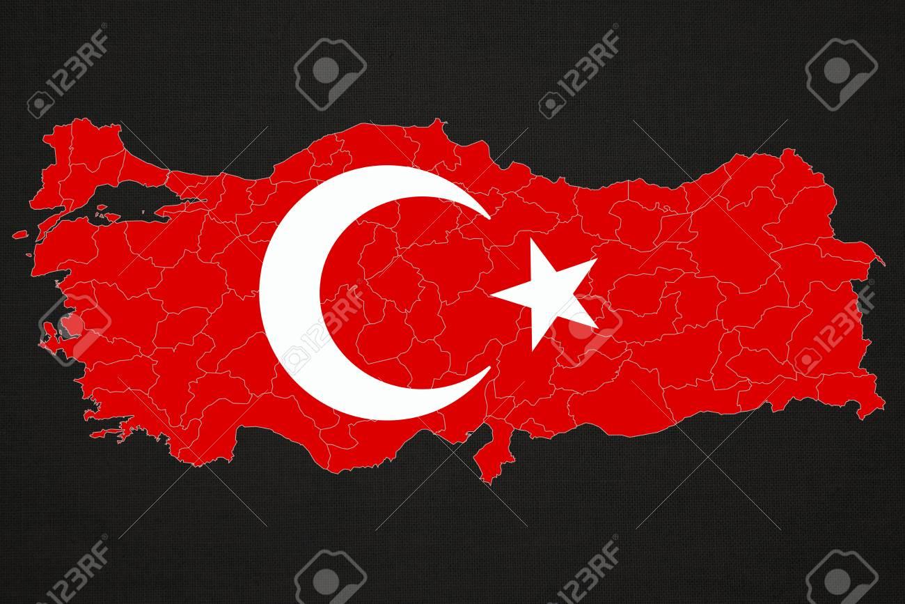turkey and turkish flag turkish flag design study stock photo