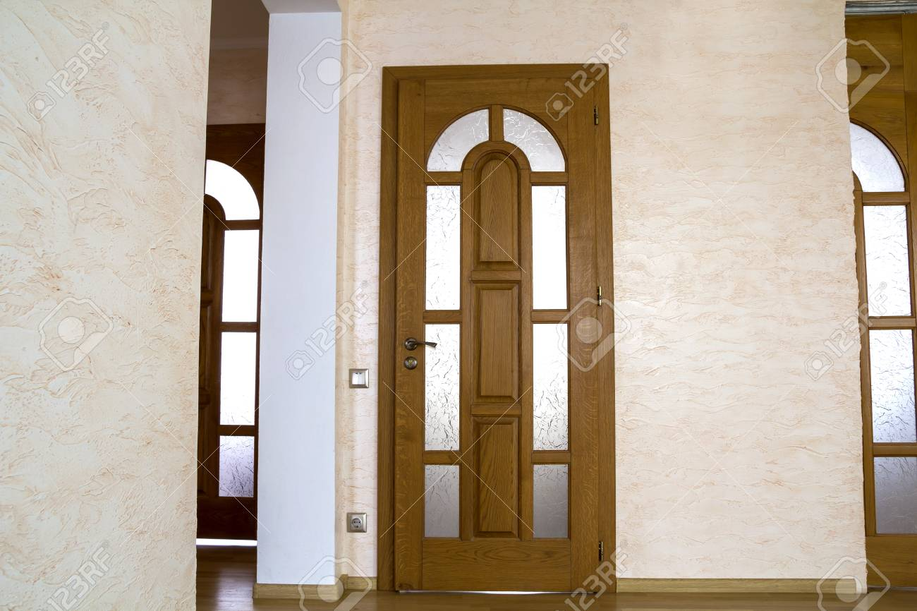 Interior of modern expensive house of apartment with wooden doors Stock Photo - 91626597 & Interior Of Modern Expensive House Of Apartment With Wooden Doors ...