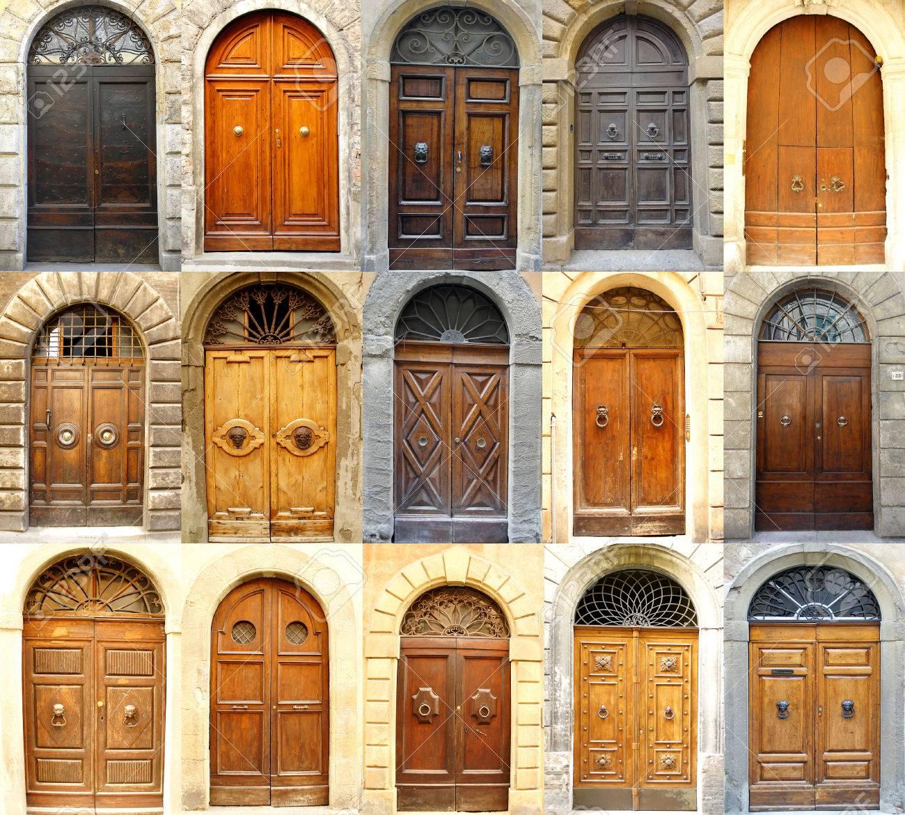 Collage Of Various Italian Doors Stock Photo   29494325