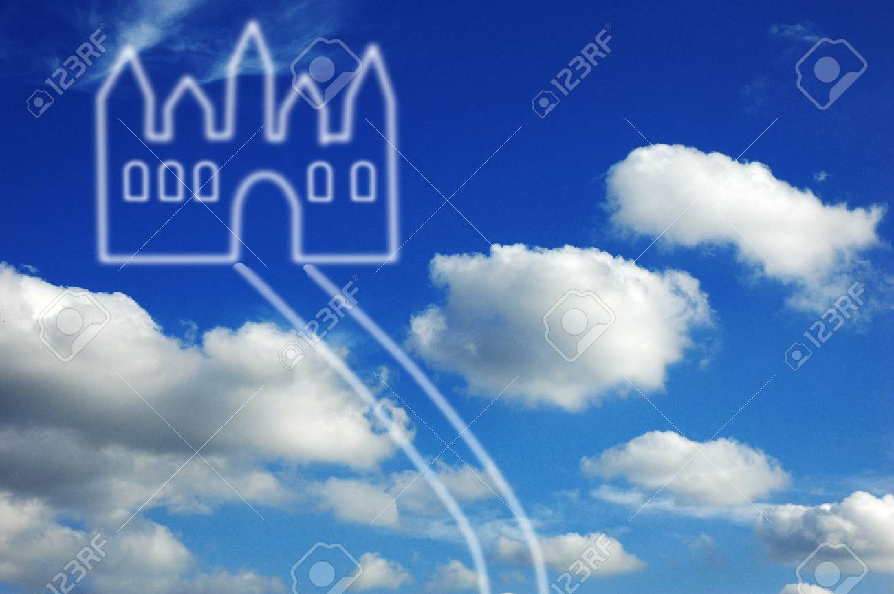 Fantasy castle in clouds Stock Photo - 8964464