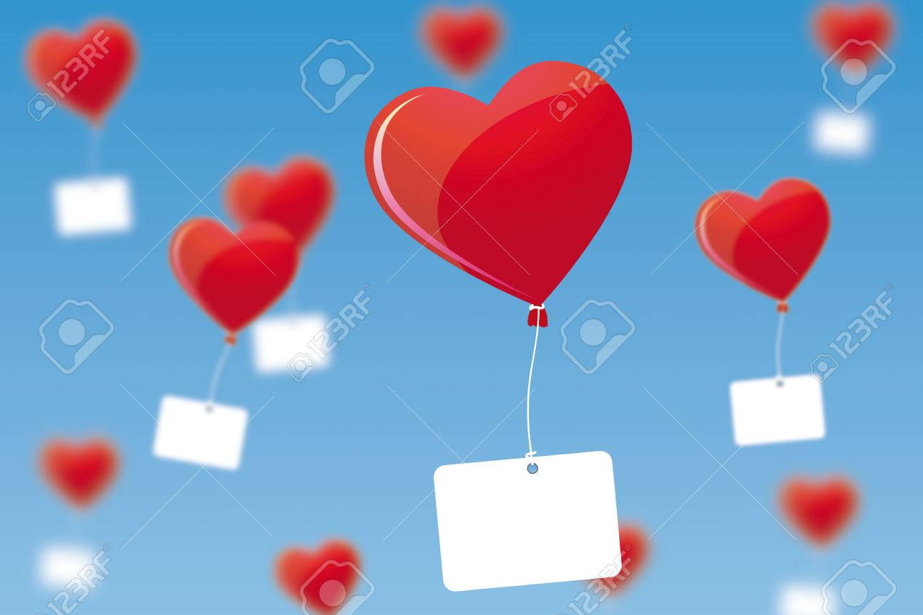 Heart shaped balloons Stock Vector - 8964477