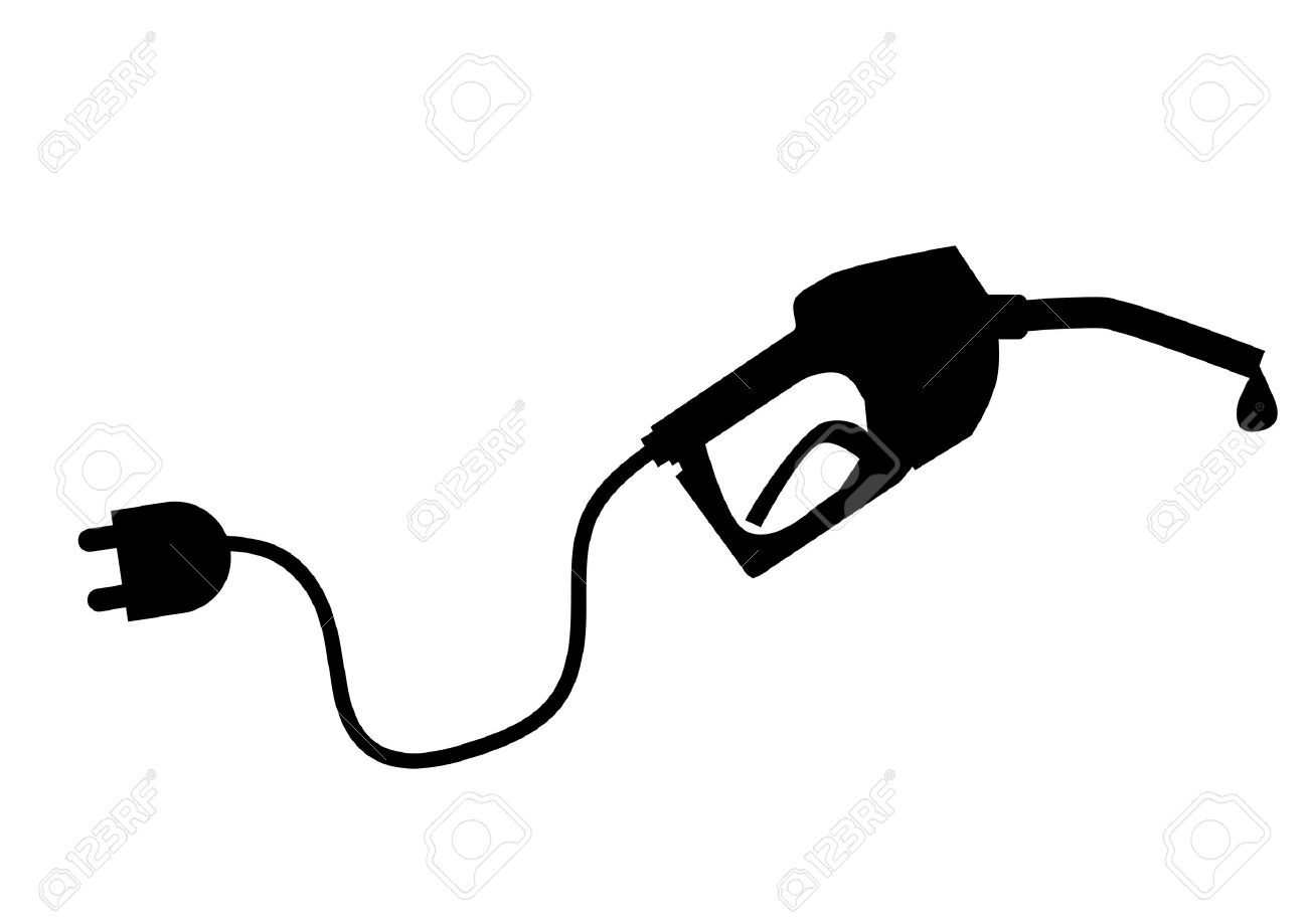Petrol pump with plug Stock Vector - 9853879