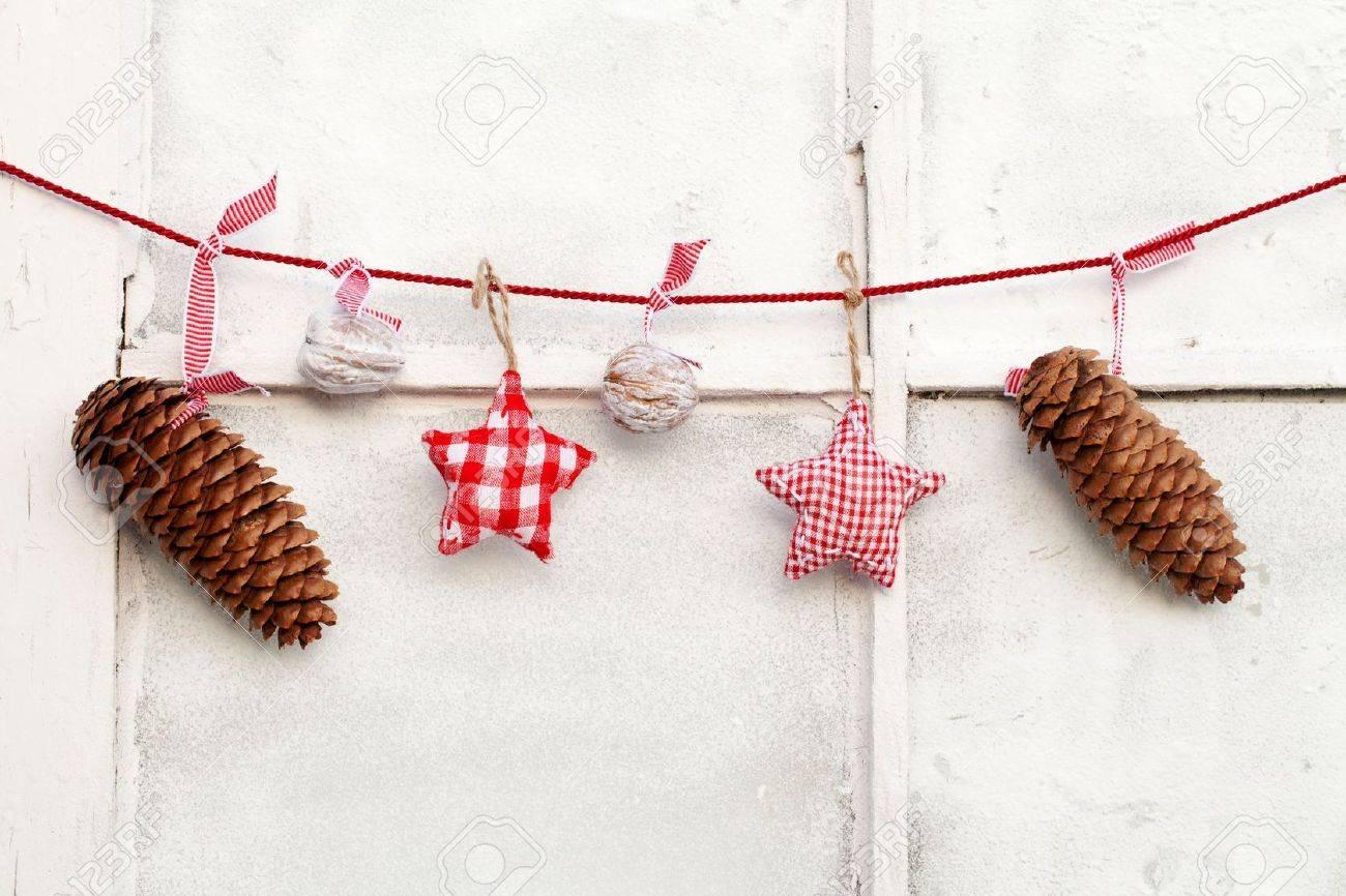 Christmas Decoration hanging on line Stock Photo - 11274589