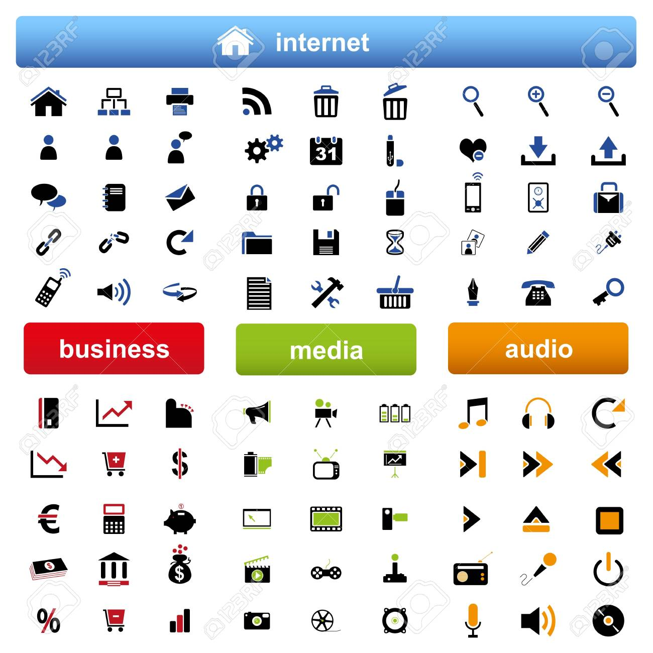 web icons Stock Vector - 13174368