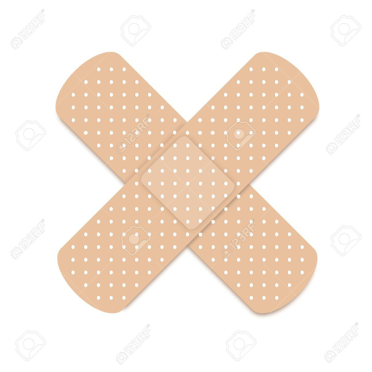 A plaster isolated against a white background Stock Vector - 14420306