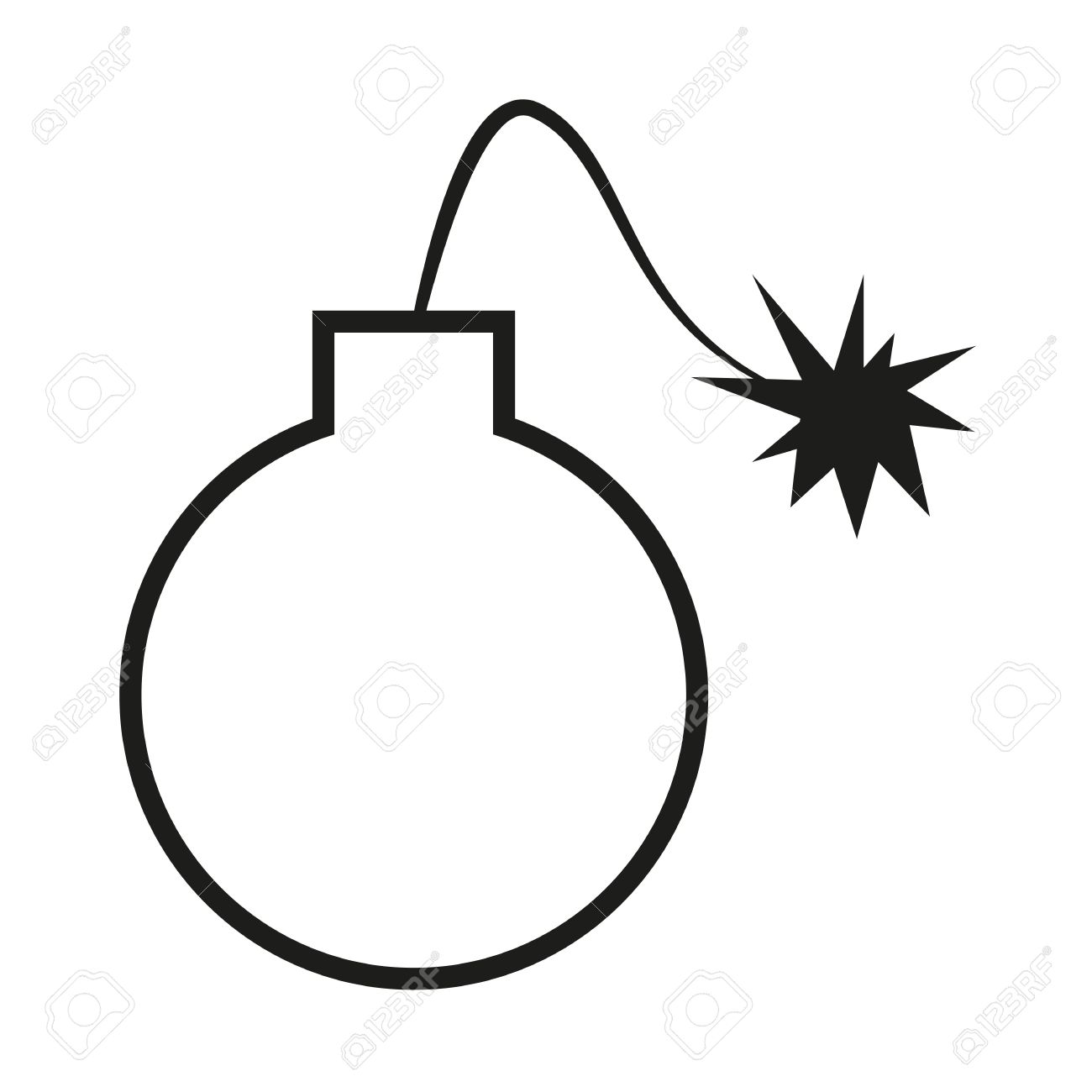 cartoon style bomb royalty free cliparts vectors and stock rh 123rf com  Explosive Grenades Cross Section