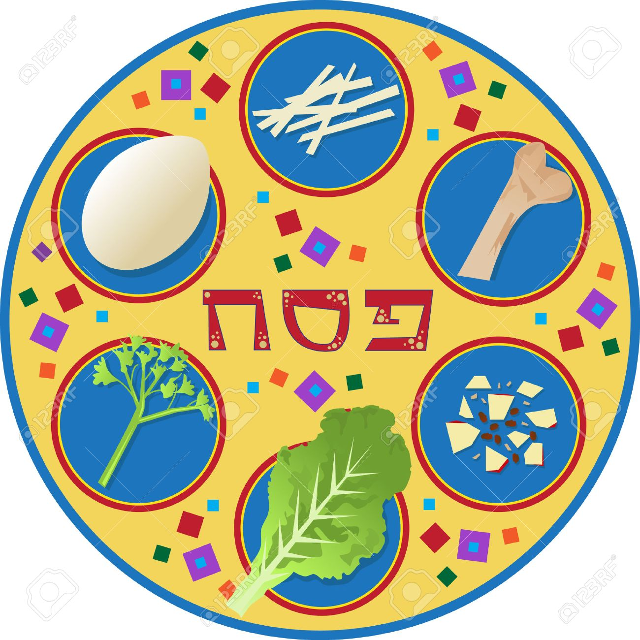 Passover Plate Passover Plate And Its Symbols With The Word