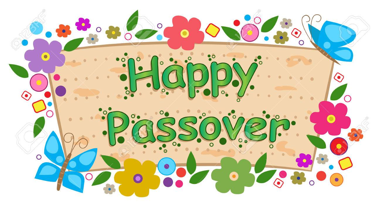 floral passover banner - happy passover banner with flowers