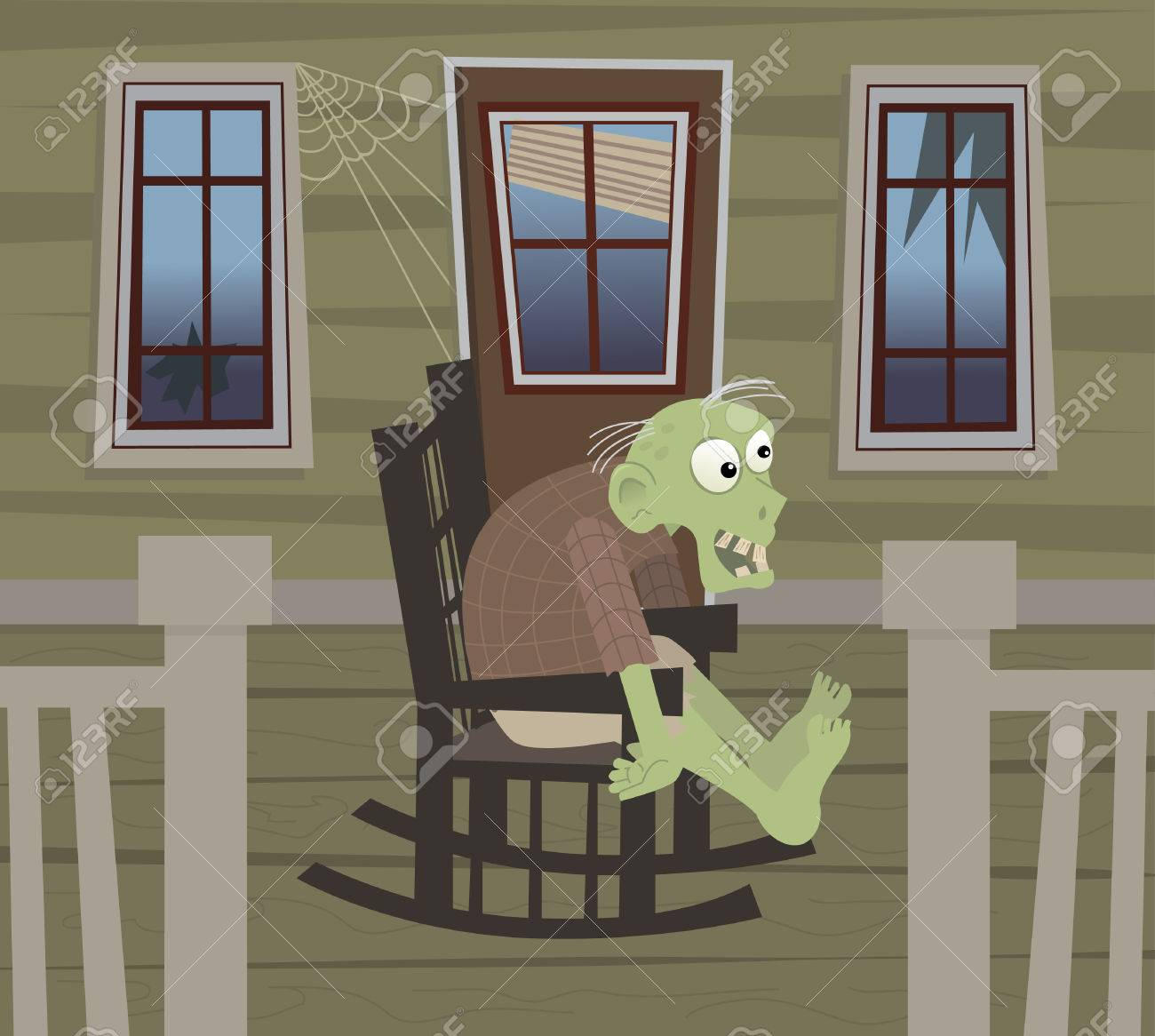 Excellent Zombie On A Rocking Chair Cute Zombie Is Sitting On A Rocking Creativecarmelina Interior Chair Design Creativecarmelinacom