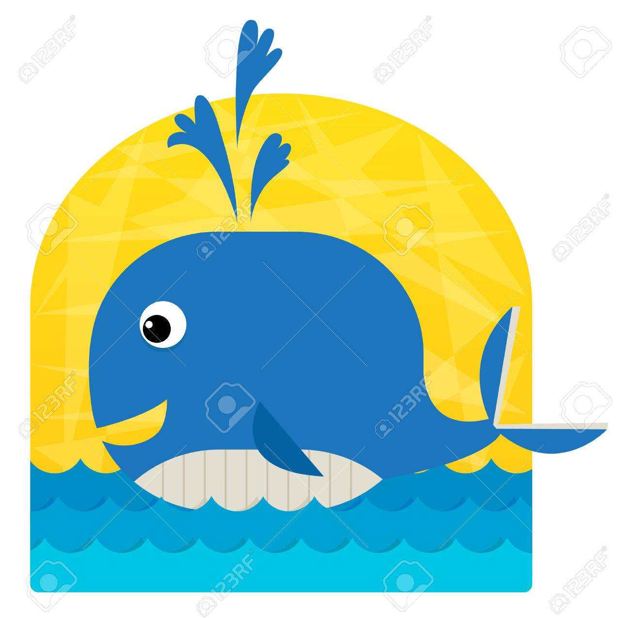 baby whale cute clip art of a baby whale swimming in the ocean rh 123rf com