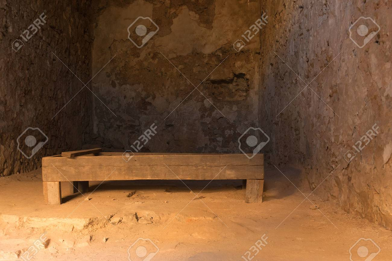 Nafplio Greece 28 December 2015 Old Wooden Bed Inside The Stock Photo Picture And Royalty Free Image Image 52637793