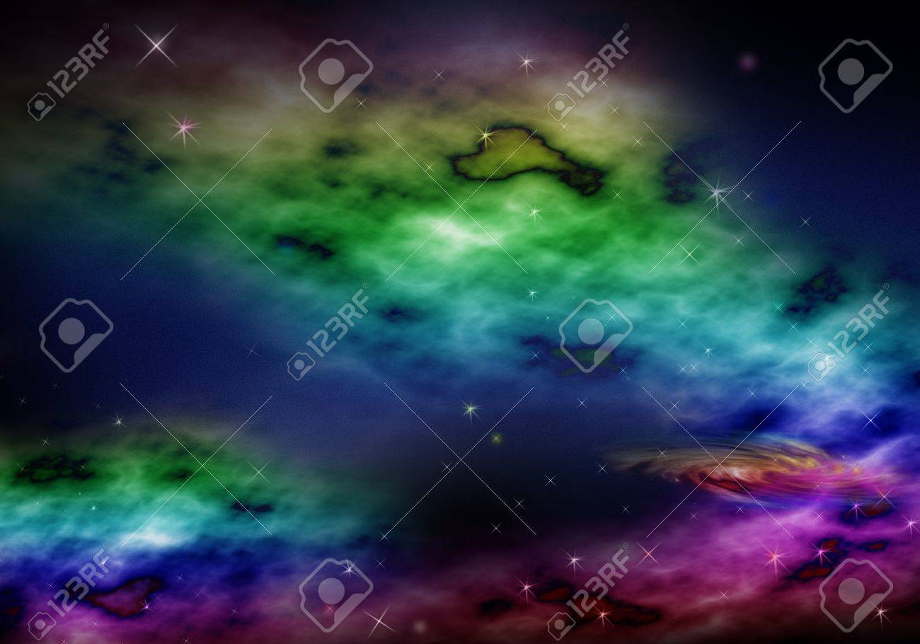 Abstract space fantasy background Stock Photo - 11891878