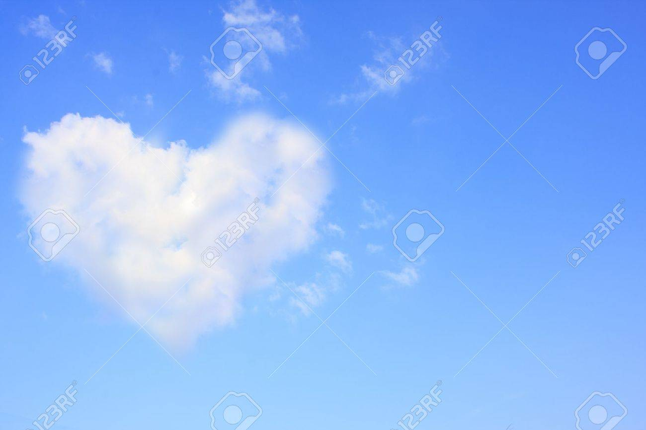 Heart in the sky could be used as a background. Stock Photo - 11937304