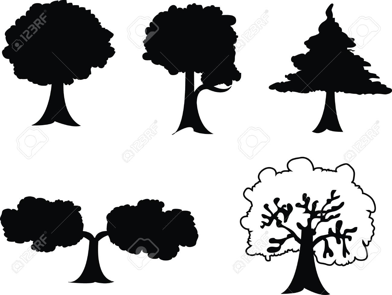 tree vector design, nature plants with green leafs Stock Vector - 13526857