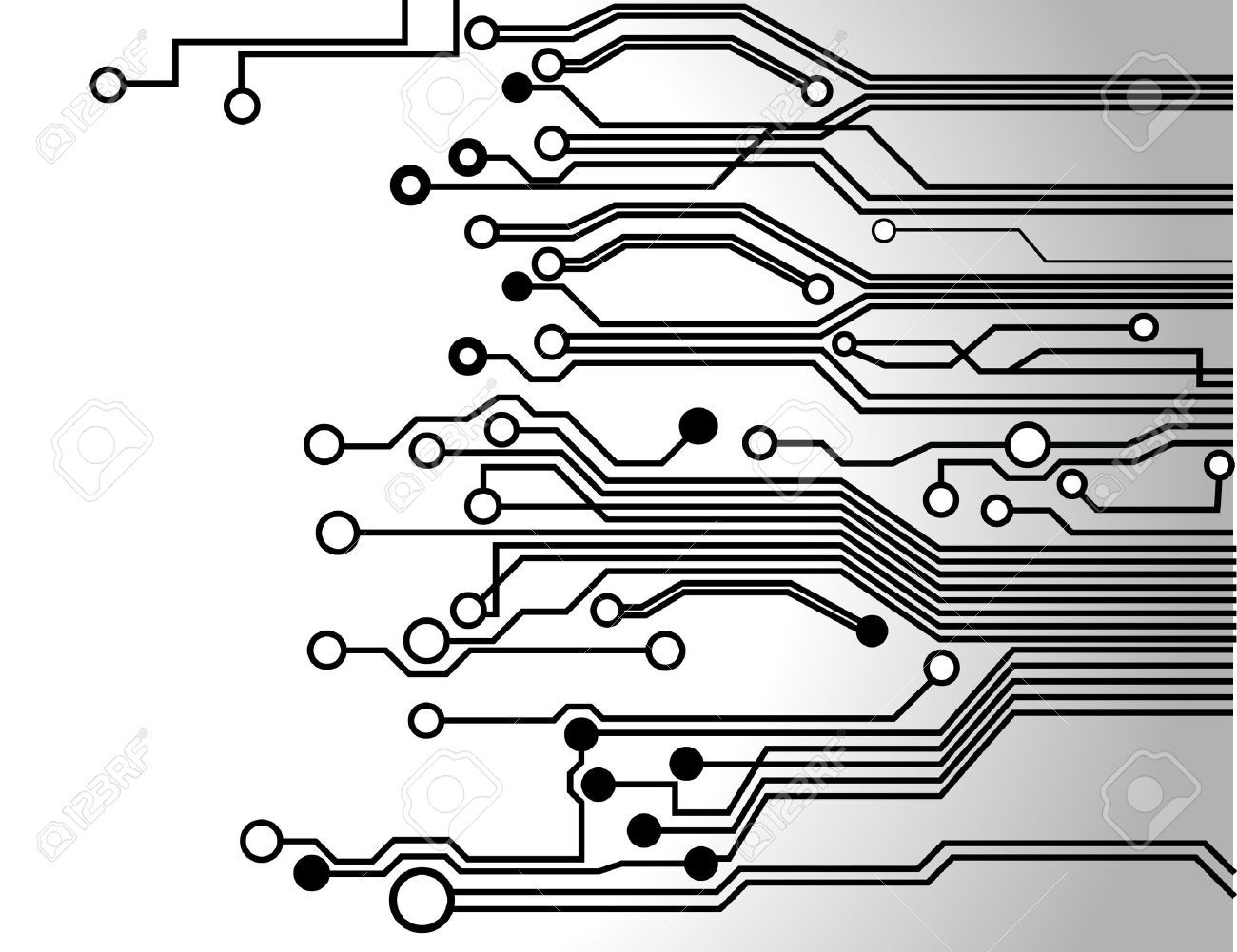 circuit board background texture - 13652673
