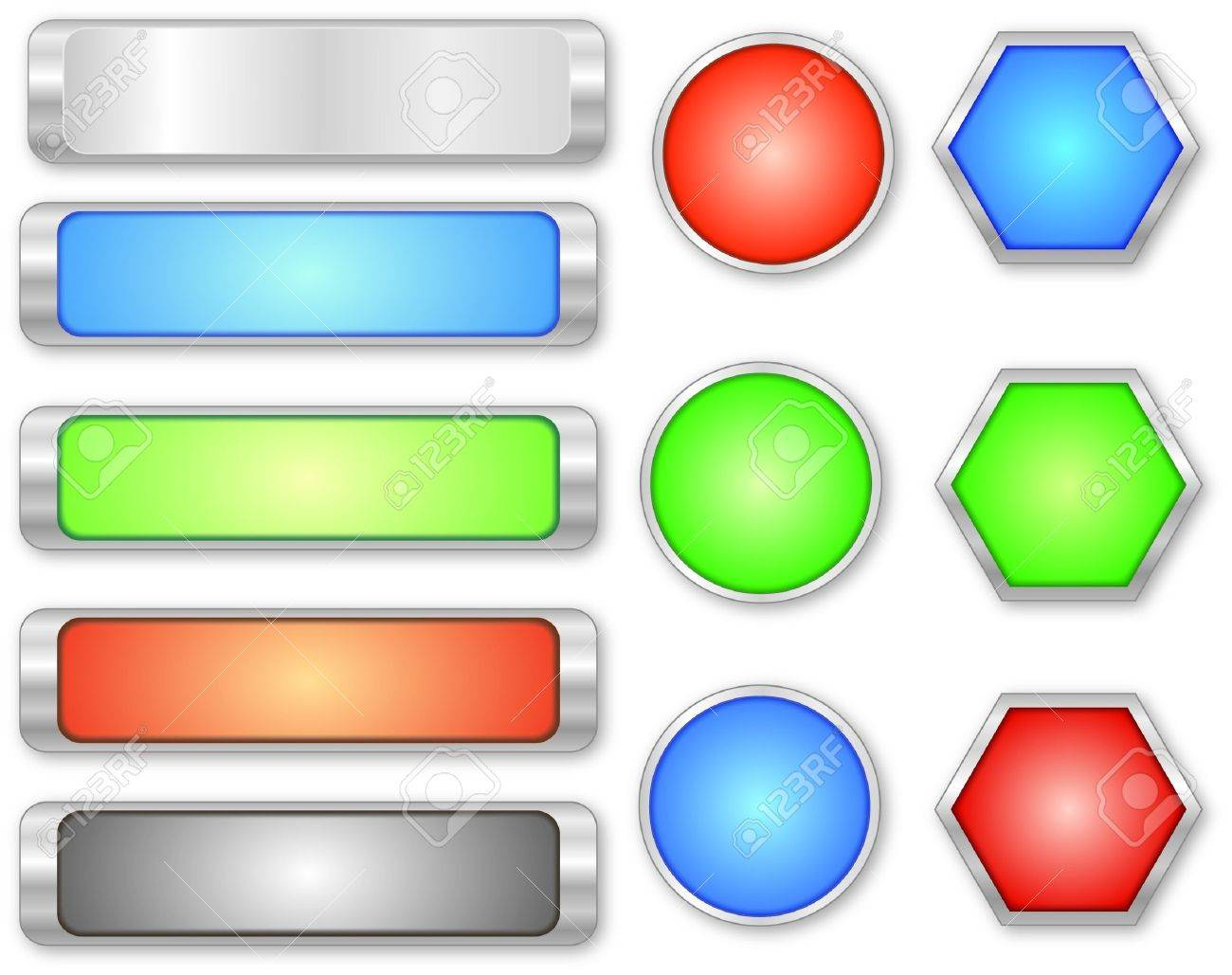 glossy buttons Stock Vector - 13691643