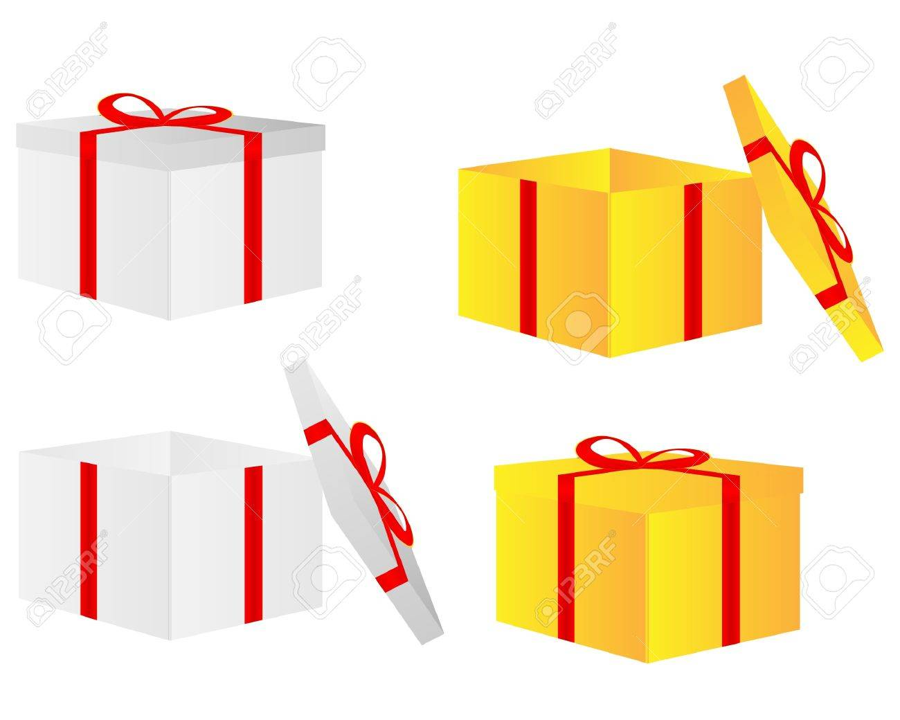 Greeting card with gift box and copy space Stock Vector - 14454288