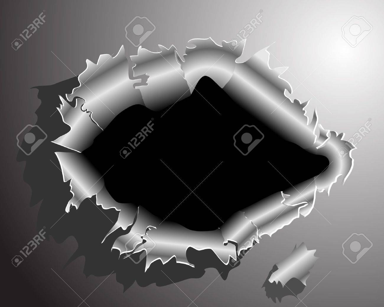 After tearing through the metal Stock Vector - 14454298