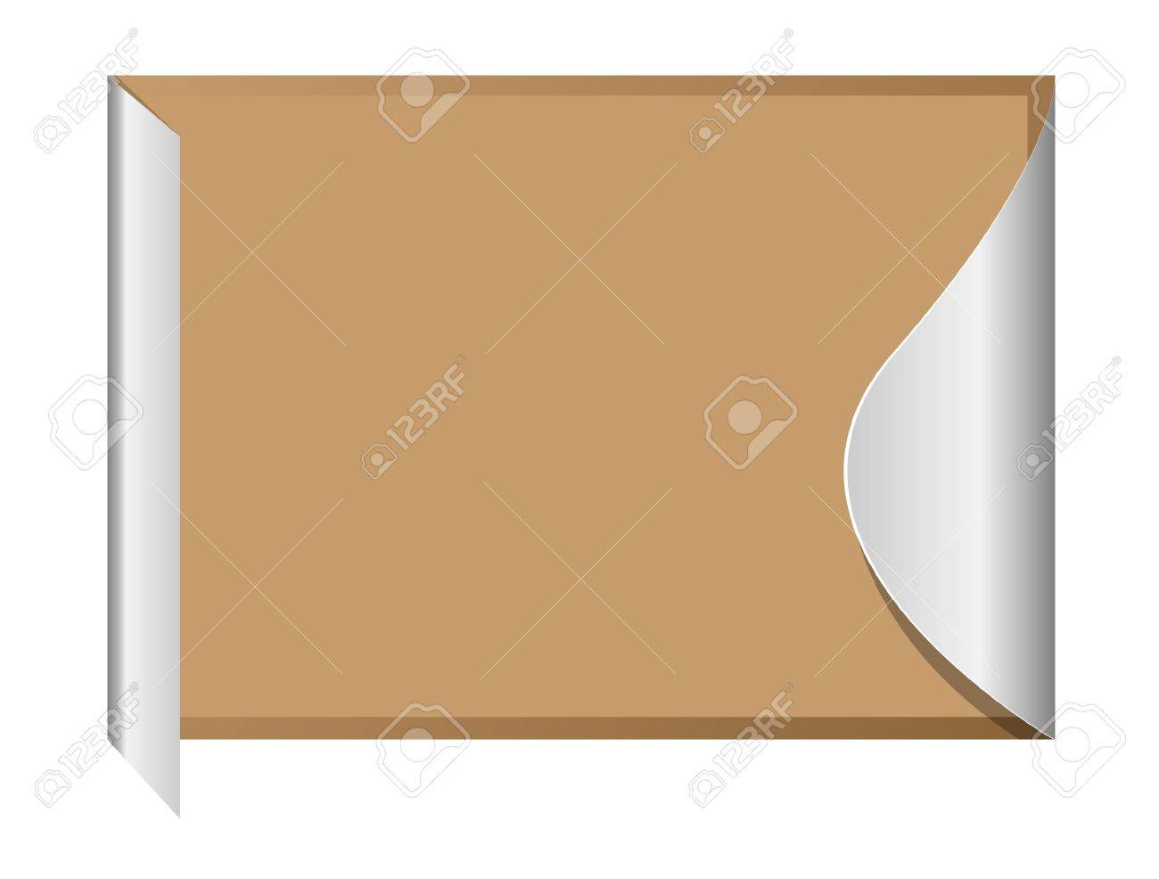 Abstract scroll paper Stock Vector - 14569591