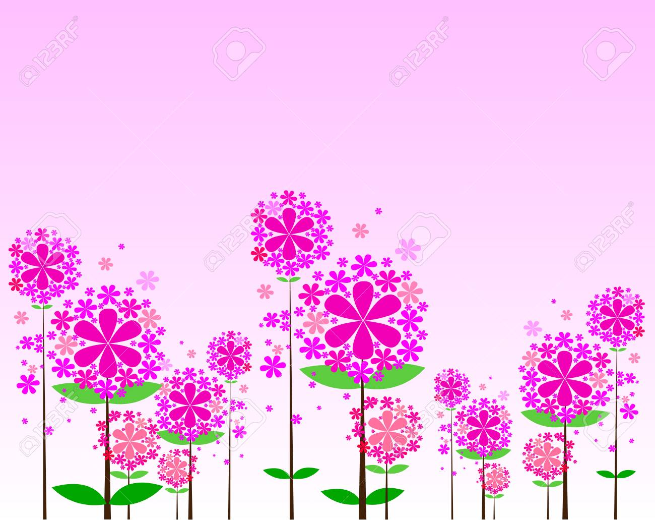 Cute bouquet of flowers   illustration Stock Vector - 15245619