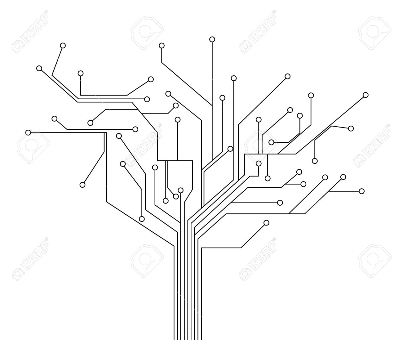 circuit board tree background royalty free cliparts vectors and rh 123rf com vector circuit board free vector circuit board free
