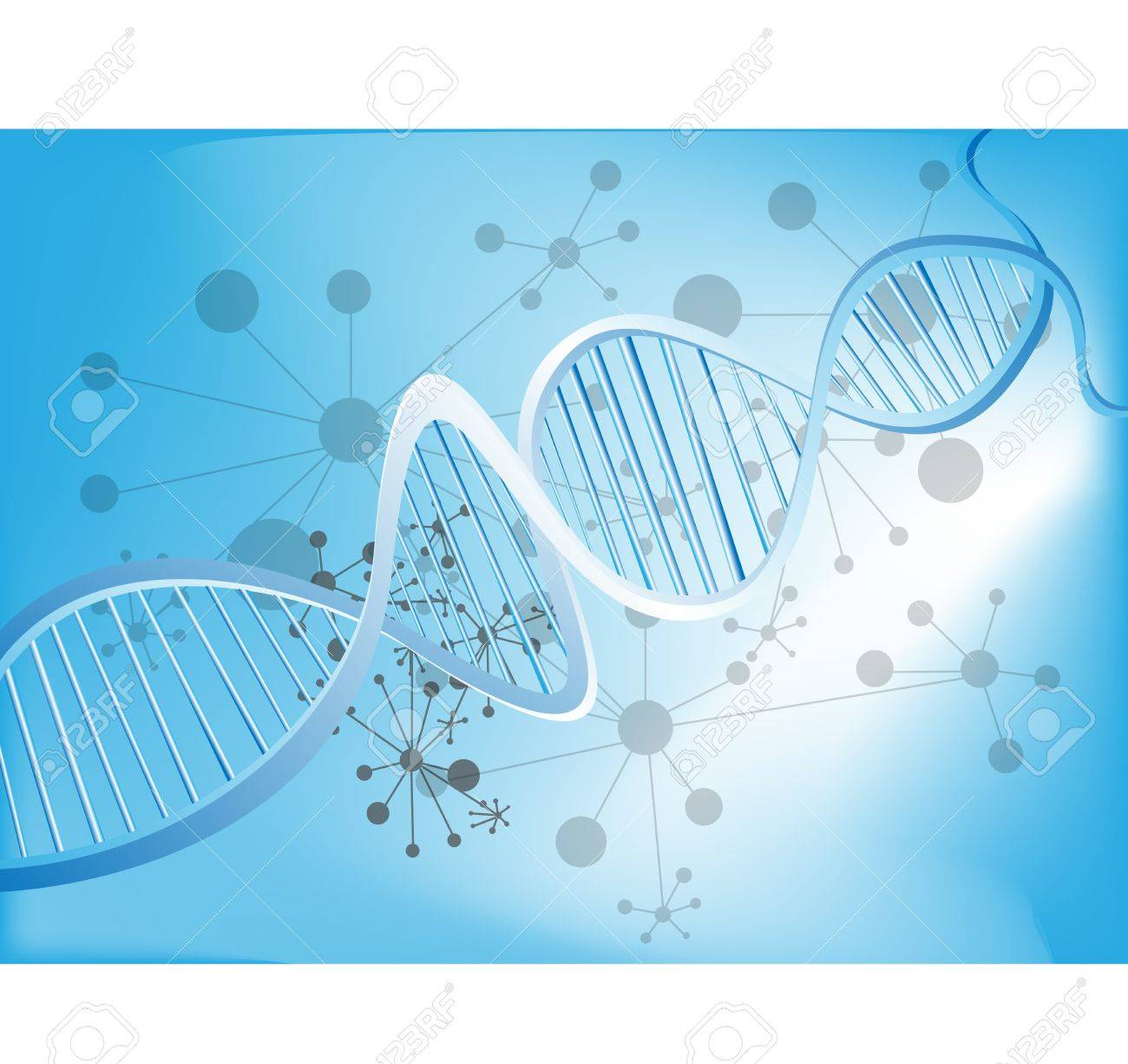 Abstract medical background with colorful DNA Stock Vector - 15959884