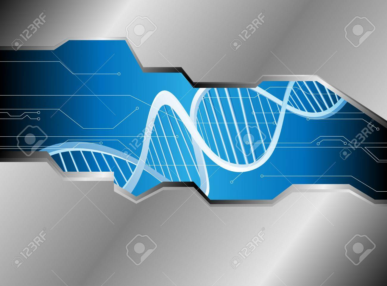 Abstract medical background with colorful DNA Stock Vector - 15959825