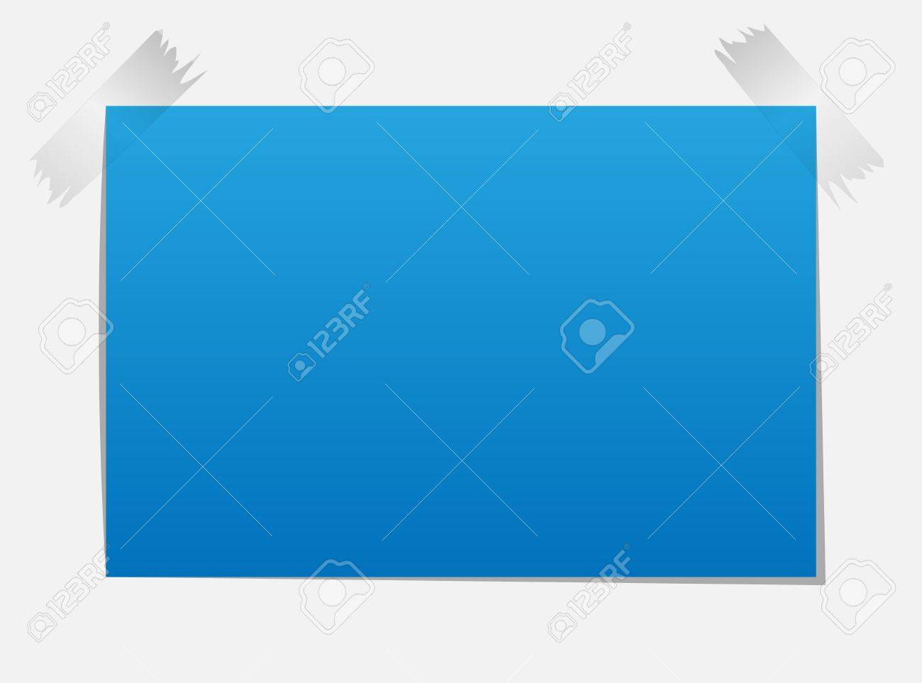 Note Paper, Isolated On Black Background Stock Vector - 16128326
