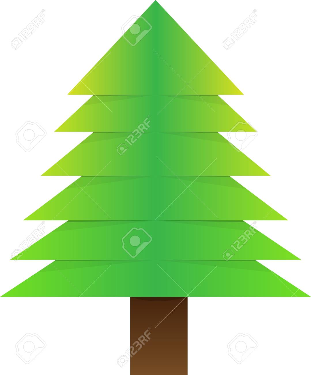 Vector illustration  Paper red background with Christmas tree Stock Vector - 16621089