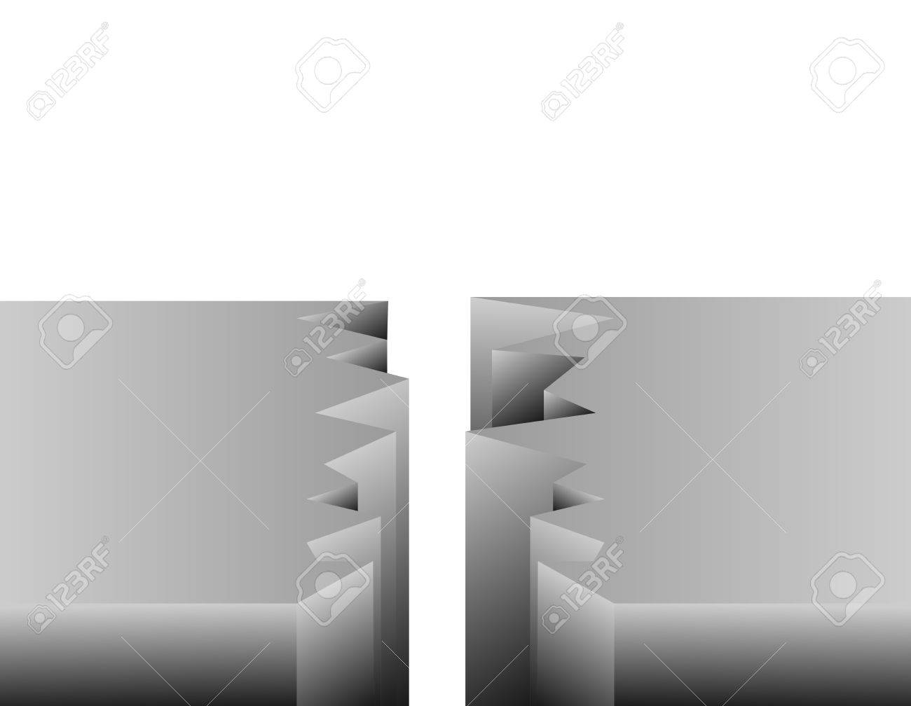Crack Vector Stock Vector - 17777196