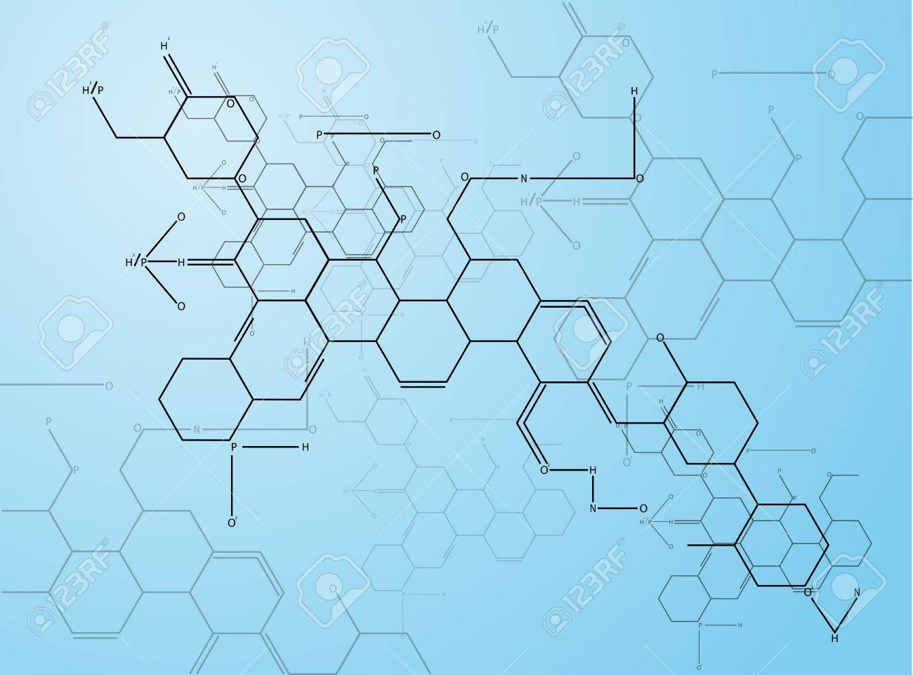 Abstract images of molecular structures in 3D  Eps 10 Stock Vector - 21809279