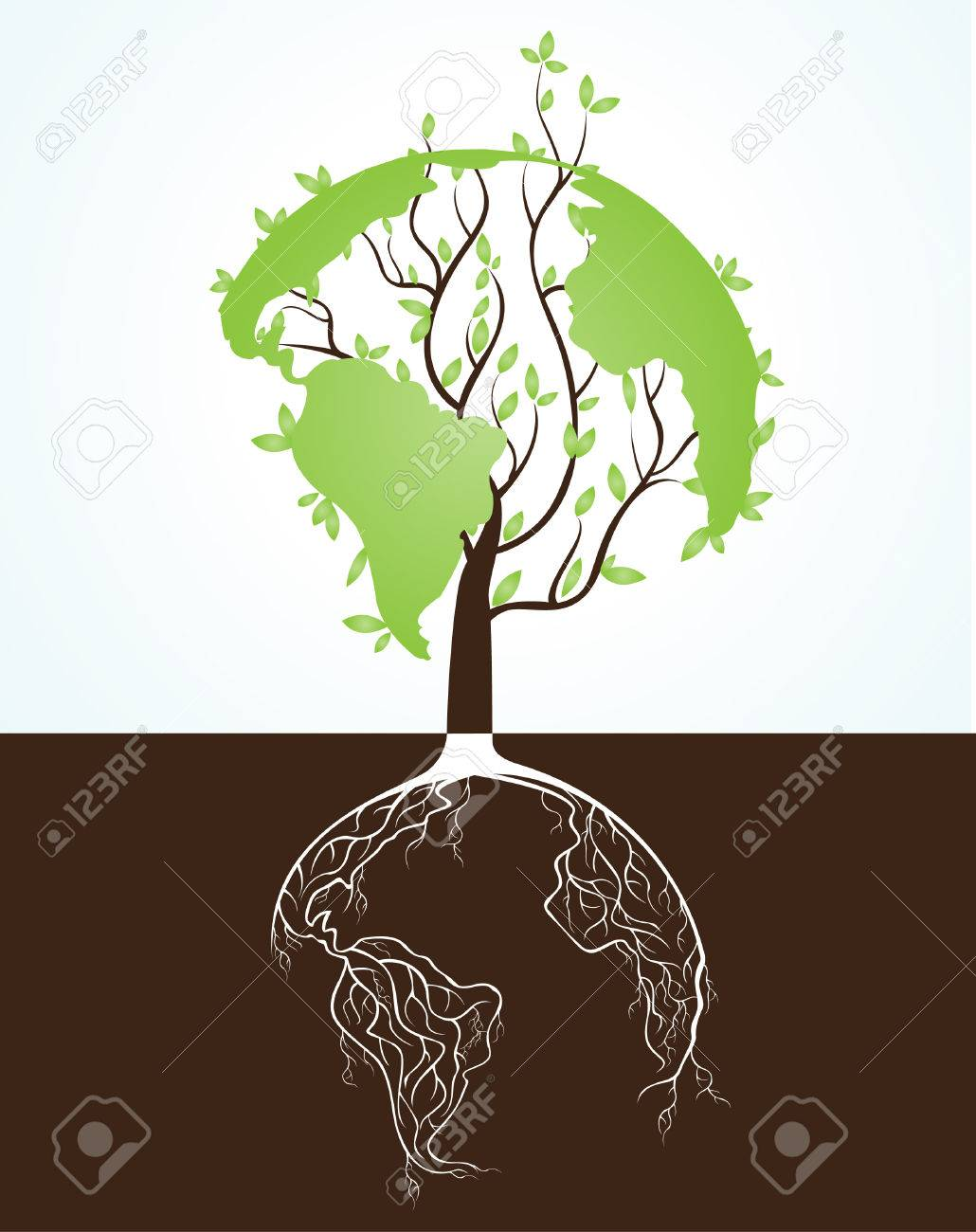 Australia recycle sign stock photos royalty free business images globe concept tree roots buycottarizona Image collections