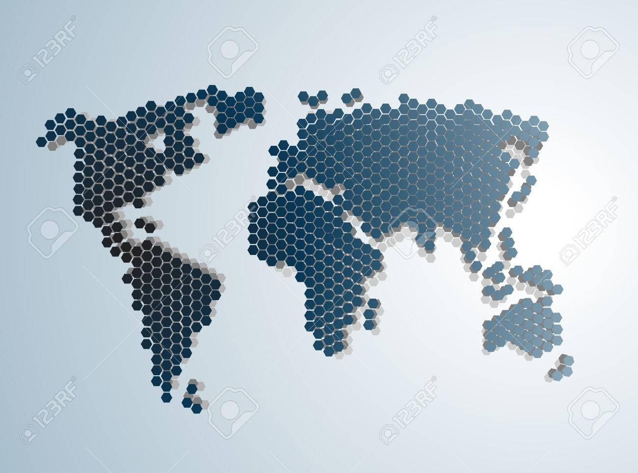 Digital Abstract Modern World Map Vector Illustration Royalty - Modern world map