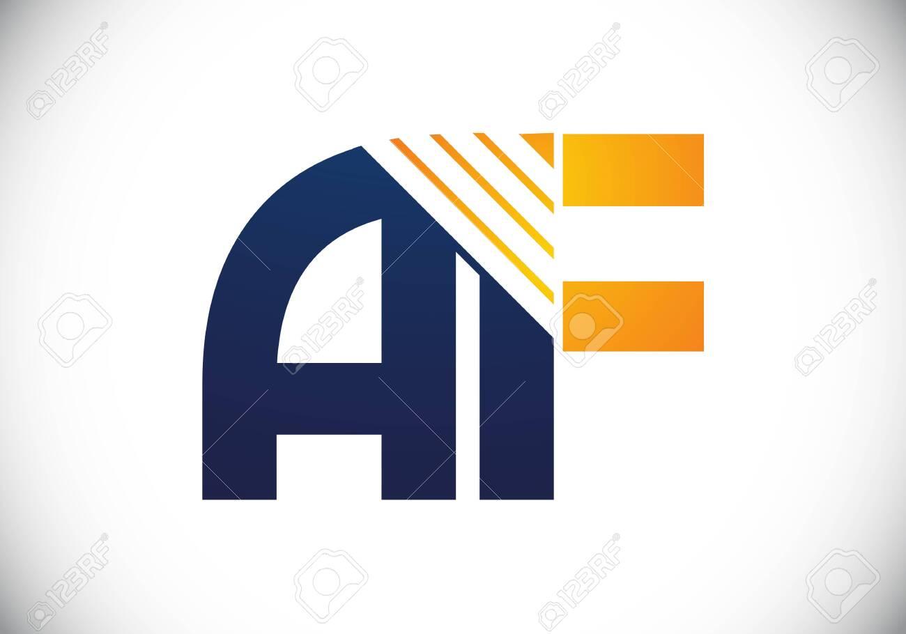A F letter sign symbol. Initial Letter A F Logo Design Vector Template. Monogram logo - 153677936