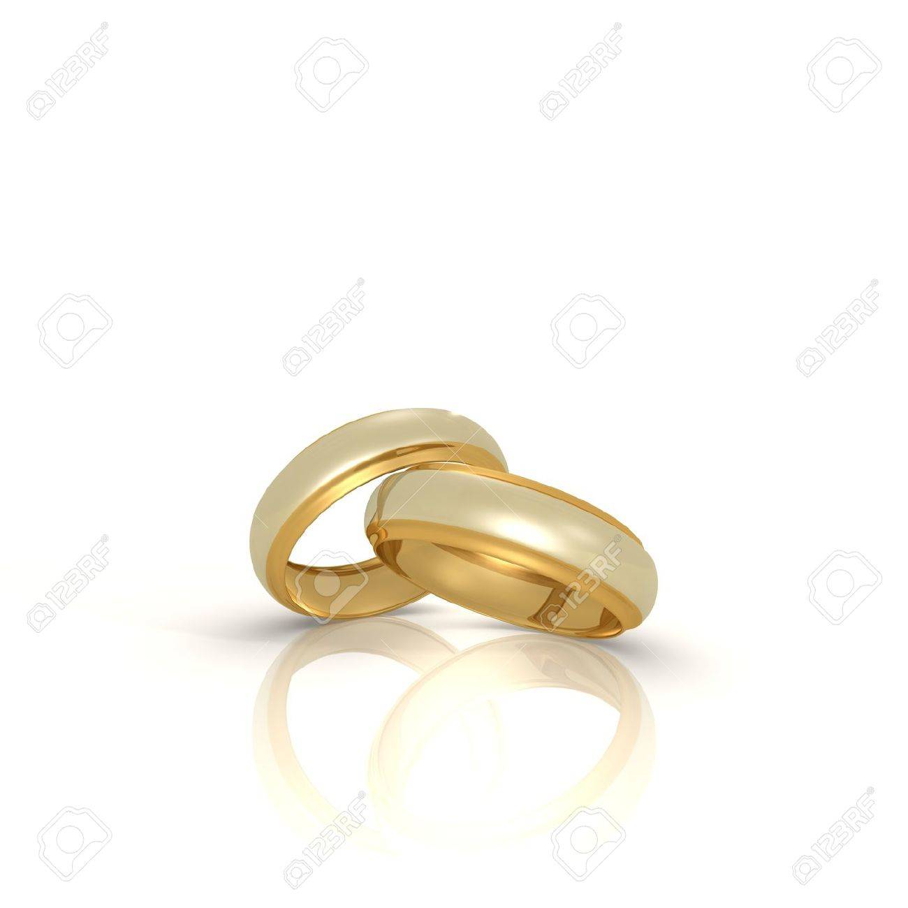 a pair of gold and silver wedding rings a 3d image stock photo 8813283 - Gold And Silver Wedding Rings