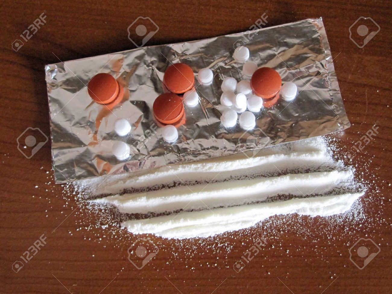 Drugs, heroine, speed, cocaine, xtc, party-drugs, stuff Stock Photo - 7540697