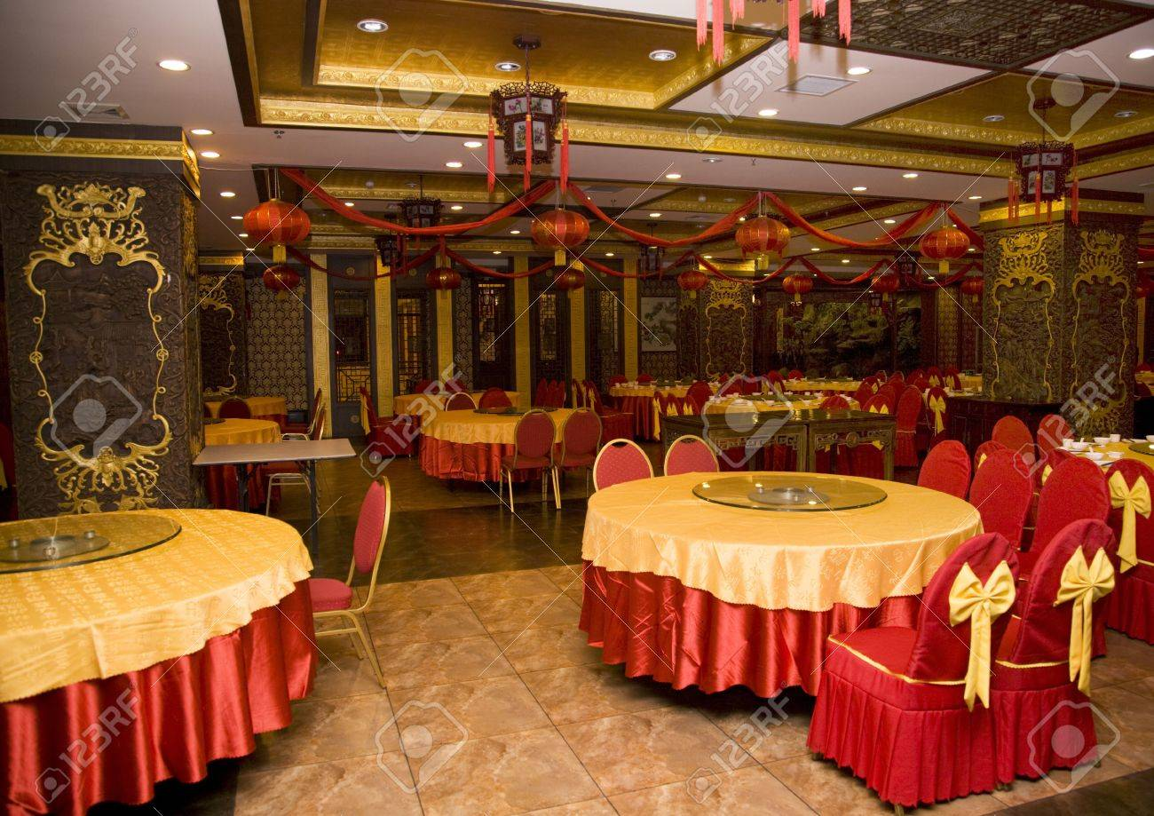 Lunar New Year Decorations Chinese Restaurant Stock Photo Picture And Royalty Free Image Image 2783004