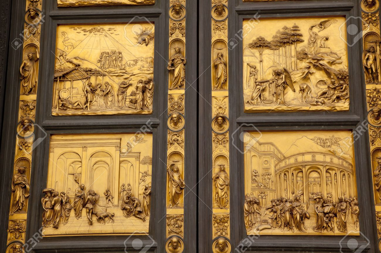 Ghiberti Paradise Bapistery Bronze Door Duomo Cathedral Florence Italy Door case in the 1400s. Stock & Ghiberti Paradise Bapistery Bronze Door Duomo Cathedral Florence ... Pezcame.Com