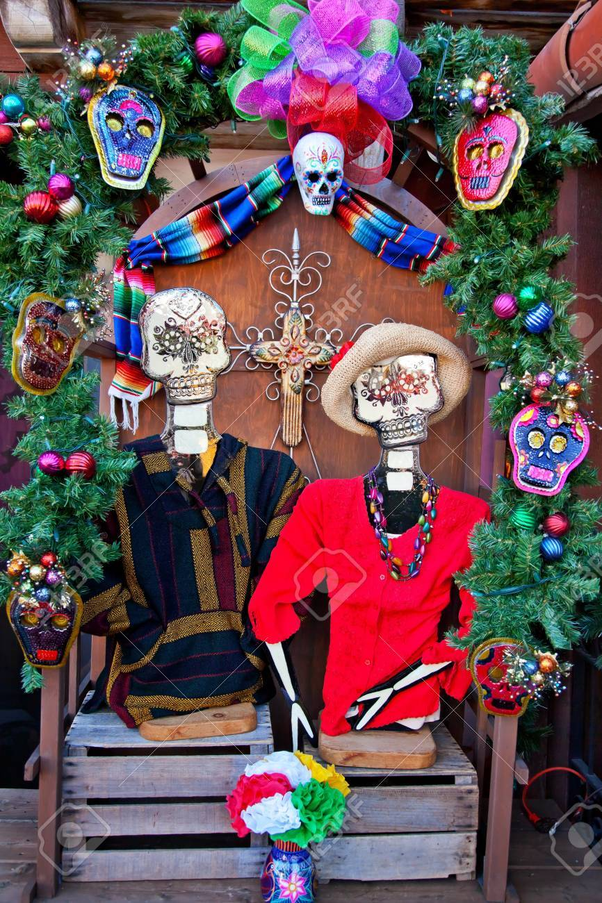 Mexican Christmas Dead Decorations Old San Diego Town California ...