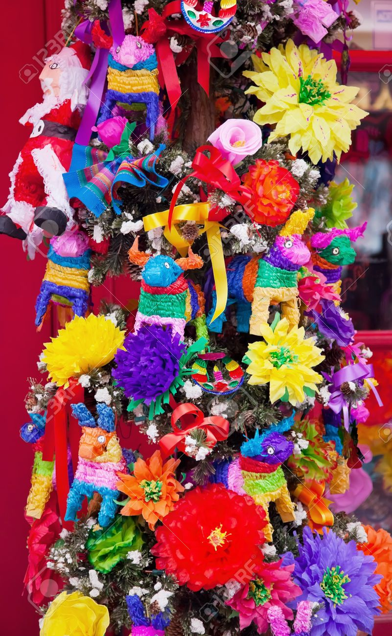 Mexican Christmas.Mexican Christmas Tree Decorations Old San Diego Town California