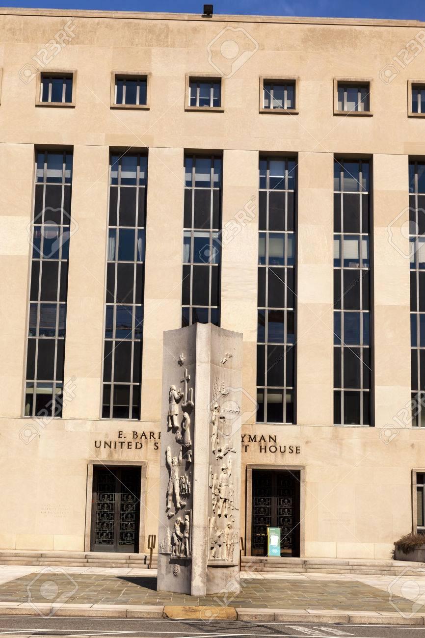Federal District Court Buliding Dc Circuit Of Appeals Pennsylvania Ave Washington Stock Photo