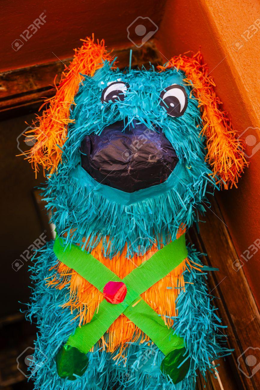 Papel Azul Del Perro Piñata Decoración Dolores Hidalgo México