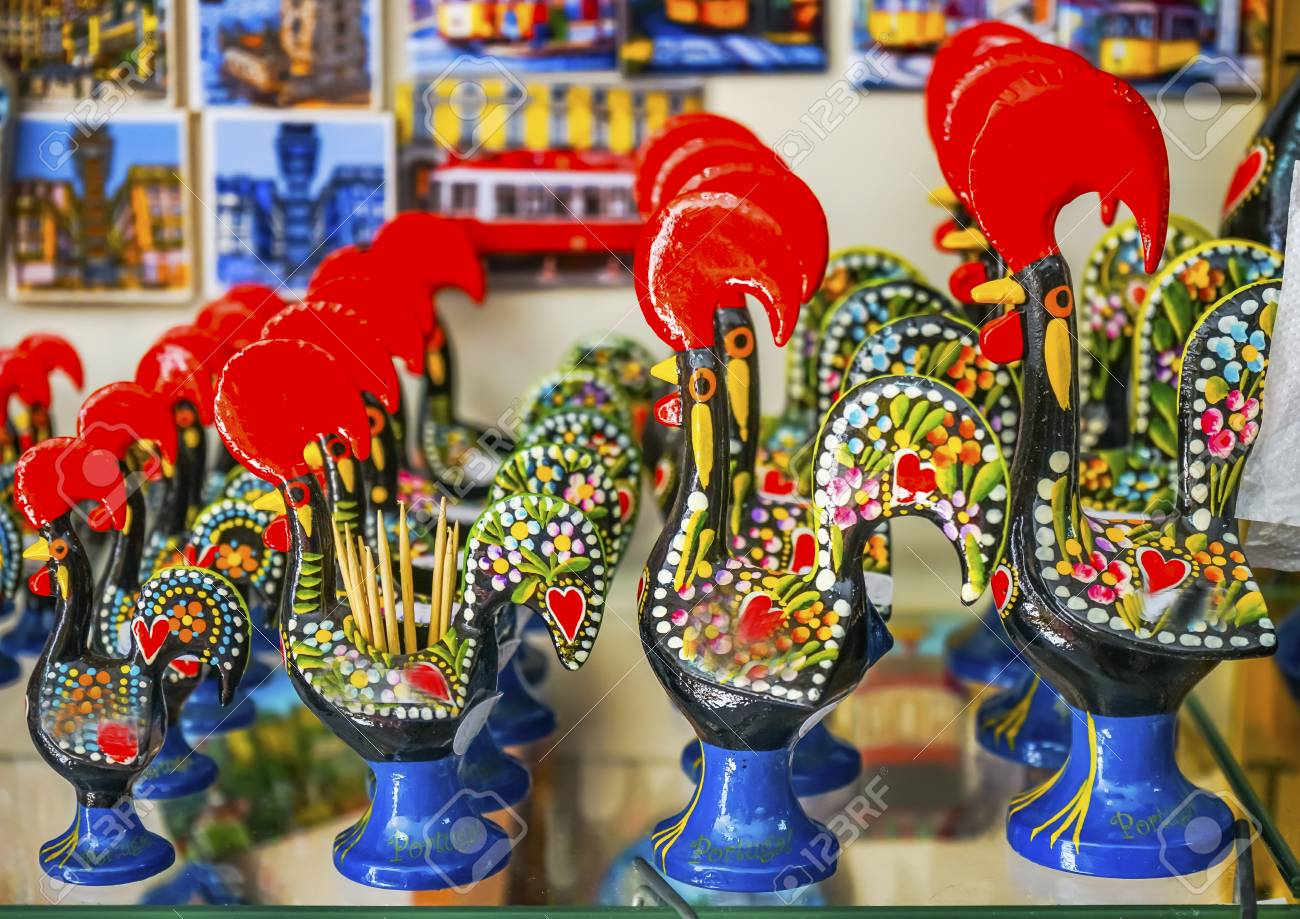 Red Rooster Iron Paperweights Souvenirs Colorful Handicrafts Stock