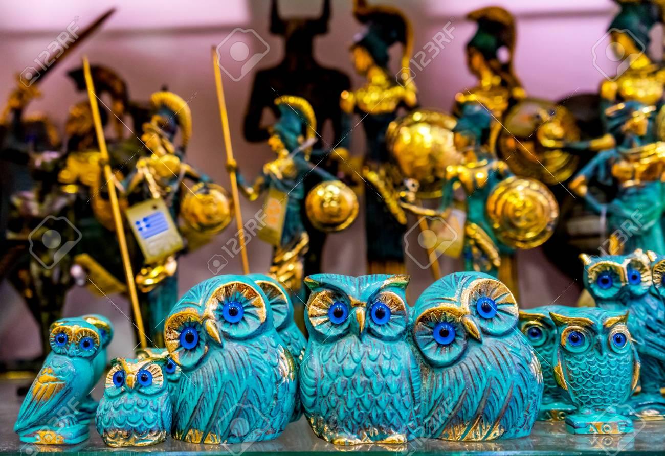 Greek Bronze Owls Symbol Athena Athens Greece Owls Are Symbol