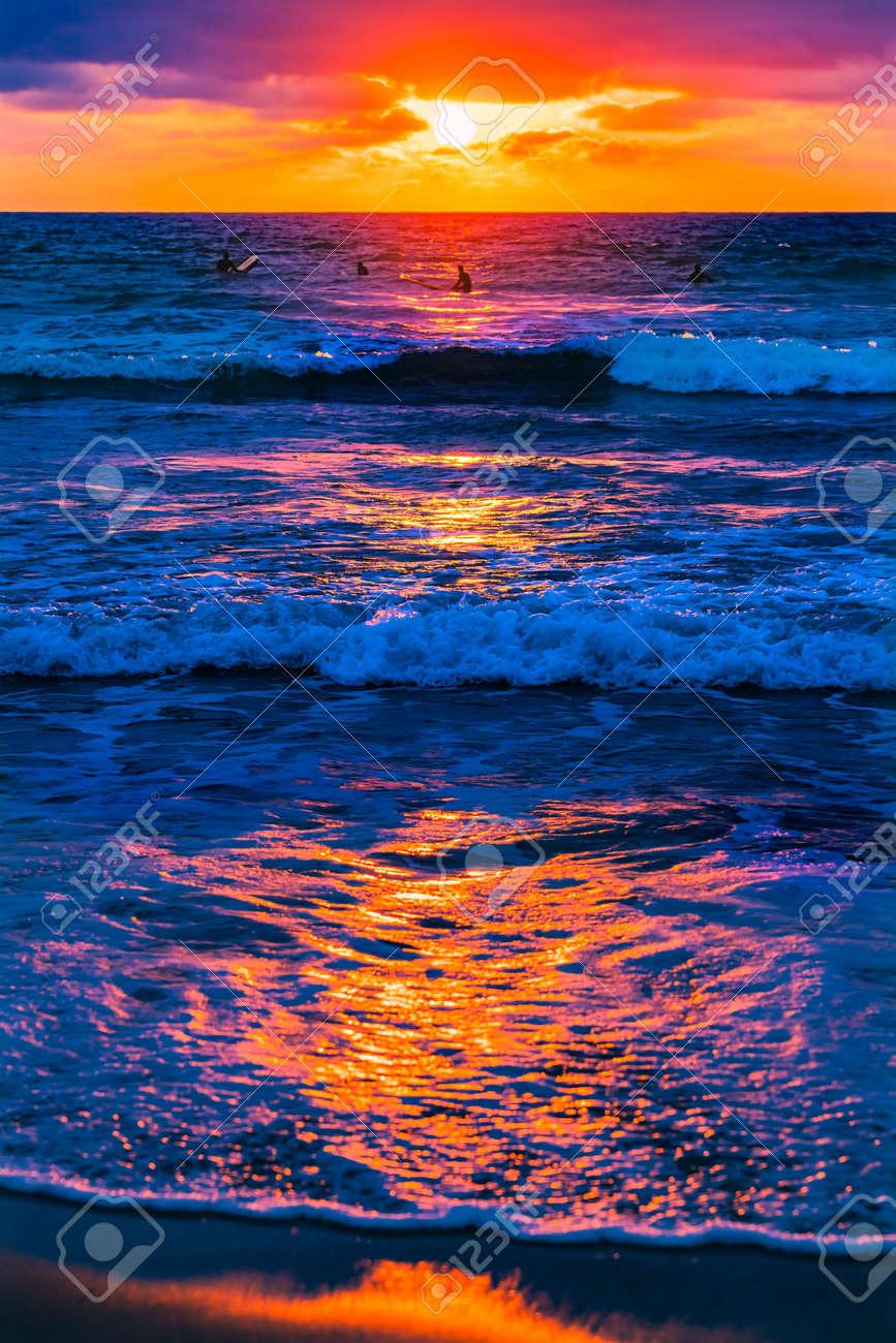 Surfers Watching Sunset La Jolla Shores Beach San Diego California - 169840096