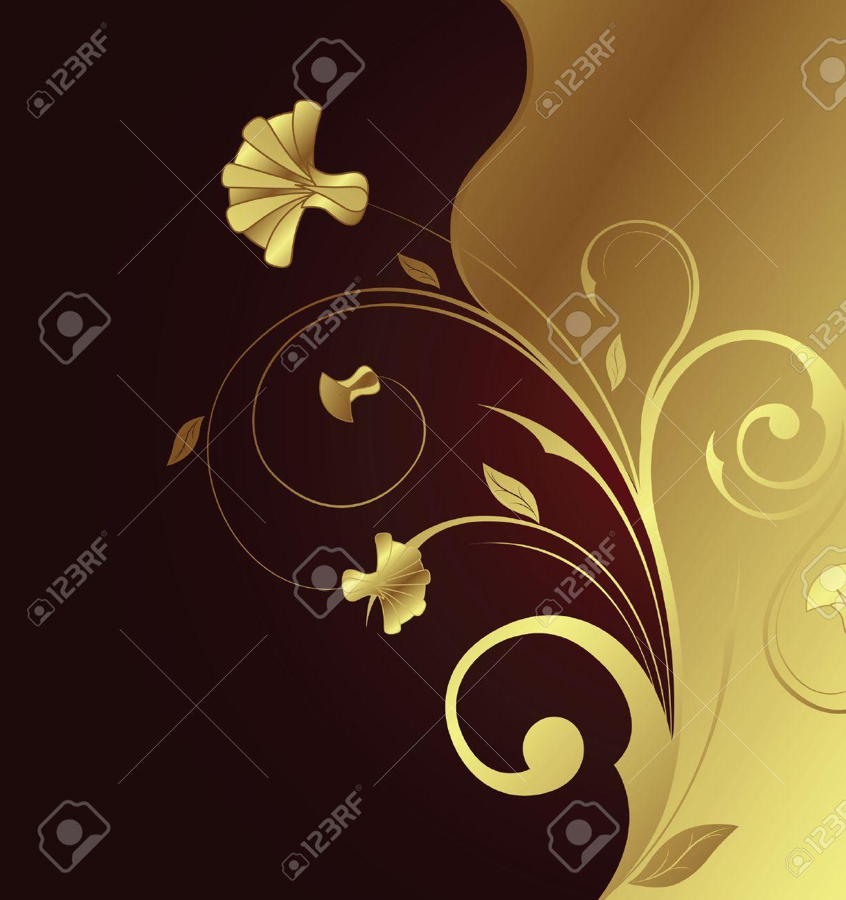 Golden Flower 1-2 Stock Vector - 3106189