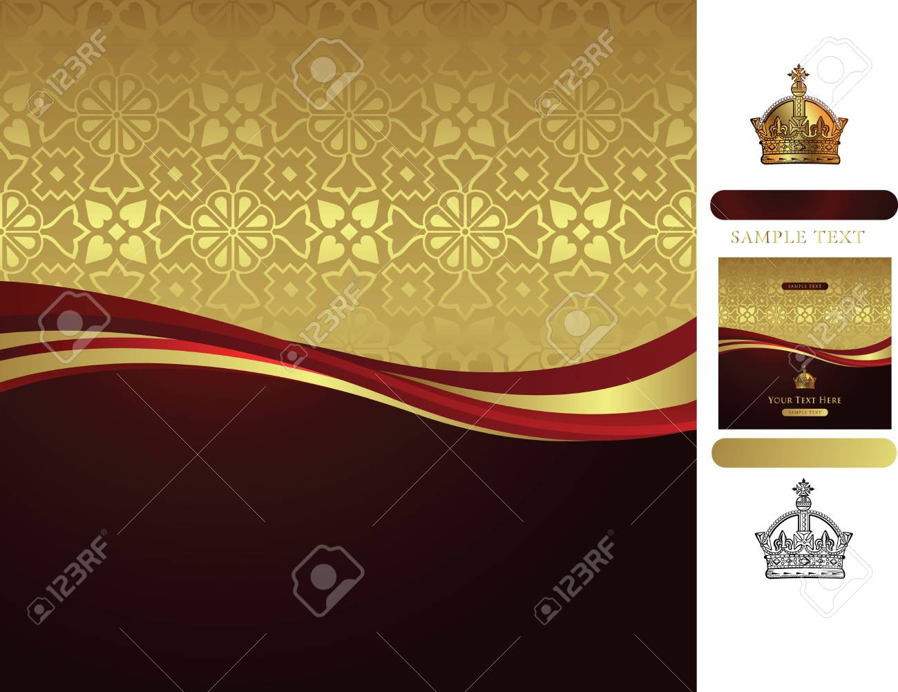 golden background with corwn Stock Vector - 3124193